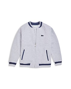 Lacoste - Boys' Zip-Up Bomber Jacket - Little Kid, Big Kid