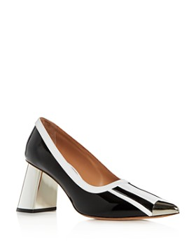 Marni - Women's Pointed-Toe Block-Heel Pumps