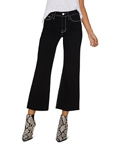 Sanctuary - Non Conformist Contrast Cropped Wide-Leg Jeans in Eyeliner