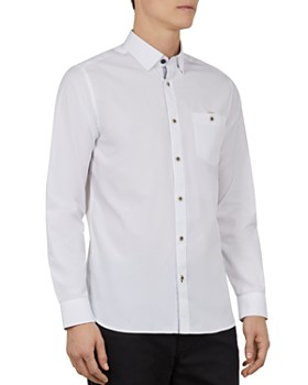 c2c1525ed Ted Baker - Kickit Soft End-on-End Slim Fit Button-Down Shirt ...