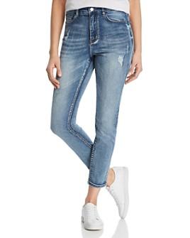 Karen Kane - Distressed Skinny Ankle Jeans in Denim
