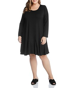 Karen Kane Plus - Dakota Long-Sleeve Scoop-Neck Dress
