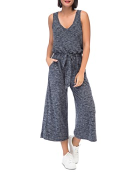 B Collection by Bobeau - Devin Sleeveless Ribbed Knit Jumpsuit