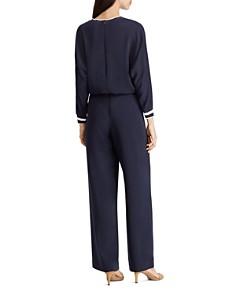 Ralph Lauren - Striped Trim Drawstring Jumpsuit