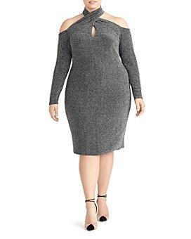 Rachel Roy Plus - Simone Metallic Cold-Shoulder Dress
