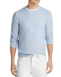The Men's Store at Bloomingdale's - Tipped Textured Crewneck Sweater - 100% Exclusive
