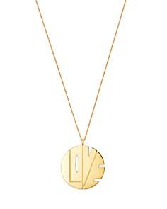 "Paul Gerben - 14K Yellow Gold Love Pendant Necklace, 16"""