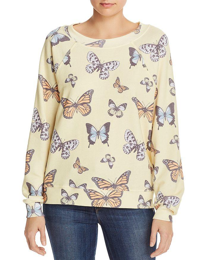 WILDFOX - Flutter Away Butterfly Print Sweatshirt