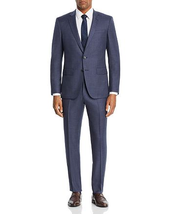 BOSS - Huge/Genius Textured Solid Slim Fit Suit