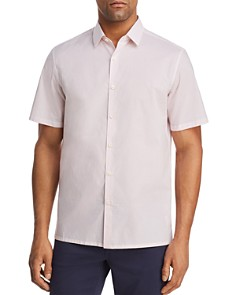 Theory - Murrary Charlton Short-Sleeve Geometric-Print Regular Fit Shirt - 100% Exclusive