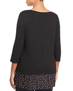 VINCE CAMUTO Plus - Mixed-Media Top