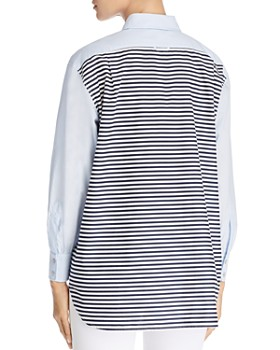 Tory Burch - Striped-Back Shirt