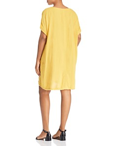 Eileen Fisher Plus - Textured Organic Cotton Dress