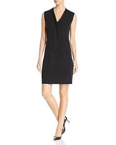 Misook - Tie-Neck Shift Dress