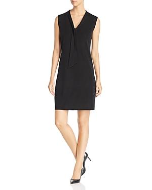 Misook Dresses TIE-NECK SHIFT DRESS