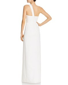 Aidan by Aidan Mattox - One-Shoulder Crepe Cutout Gown - 100% Exclusive
