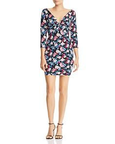 GUESS - Islynn Twist-Front Floral-Print Mini Dress