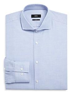 BOSS - Micro Squares Slim Fit Dress Shirt