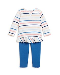 Splendid - Girls' Striped Ruffle-Hem Top & Leggings Set- Baby