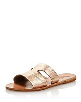 Ancient Greek Sandals - Women's Apteros Flat Slide Sandals