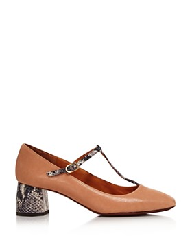 Chie Mihara - Women's Turnout Snake-Embellished Mary Jane Pumps