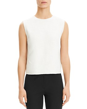 926358c3ee7525 Theory - Cropped Sleeveless Top ...