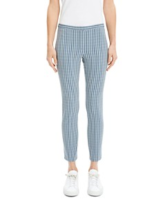 Theory - Classic Check Skinny Pants
