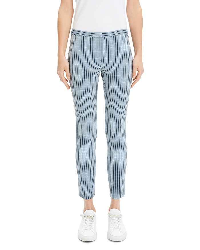 Theory - Classic Check Skinny Pants