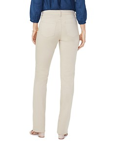 NYDJ - Marilyn Straight-Leg Sateen Jeans in Straw