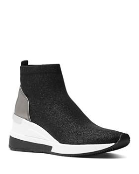 MICHAEL Michael Kors - Women's Skyler Glitter Knit Wedge Platform Sneakers