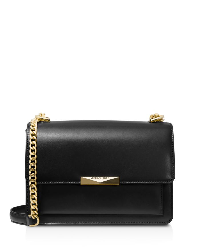 MICHAEL Michael Kors Large Jade Gusseted Leather Shoulder Bag  | Bloomingdale's