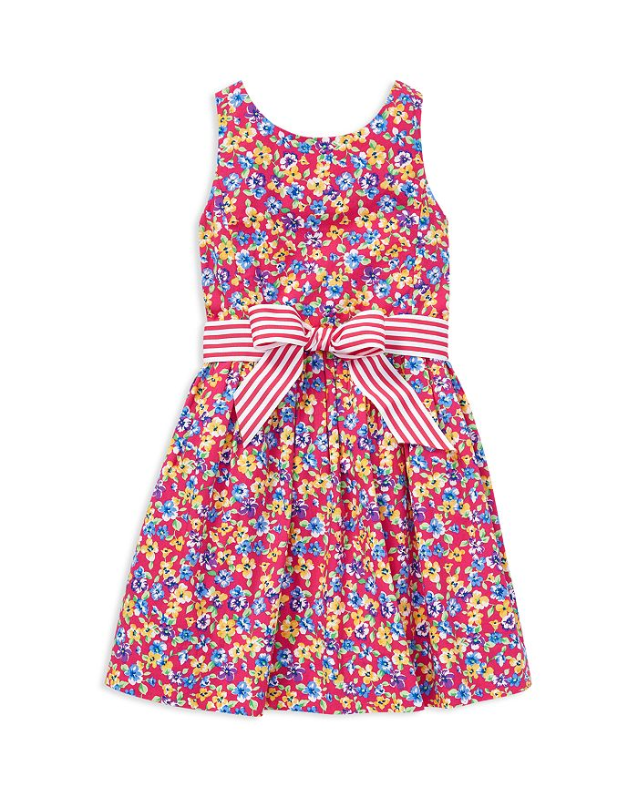 Ralph Lauren - Girls' Floral Print Fit-and-Flare Dress - Little Kid