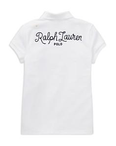 Ralph Lauren - Girls' Patchwork Stretch-Pique Polo Shirt - Big Kid