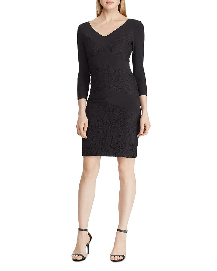 Ralph Lauren - Lace-Trimmed Dress