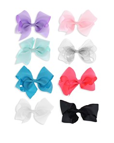 Capelli - Girls' 8-Piece Bow-Clip Set
