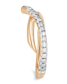 JOHN HARDY - 18K Yellow Gold Bamboo Pavé Diamond Ring