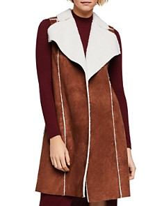 BCBGENERATION - Faux Shearling Long Vest