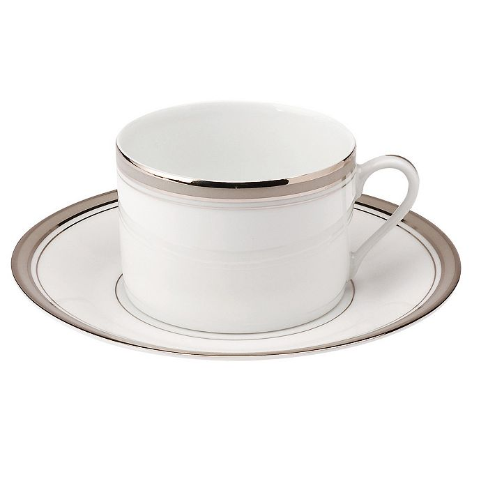 "Philippe Deshoulieres - ""Excellence Grey"" Tea Saucer"