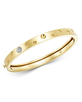 Roberto Coin - 18K Yellow Gold Pois Moi Luna Diamond Thin Bangle Bracelet