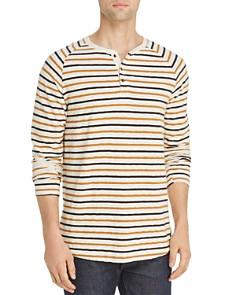 Scotch & Soda - Long-Sleeve Striped Slub-Knit Raglan Henley