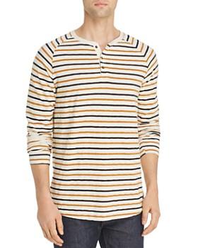 91034742a840 Scotch   Soda - Long-Sleeve Striped Slub-Knit Raglan Henley