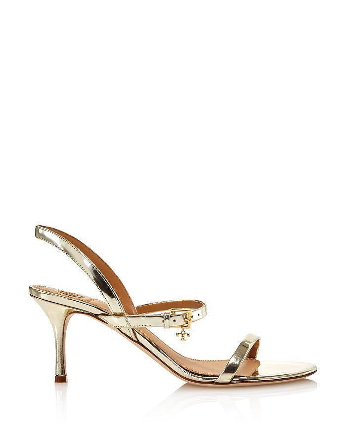 f51400644711 Tory Burch - Women s Penelope Open-Toe Metallic Leather High-Heel Slingback  Sandals