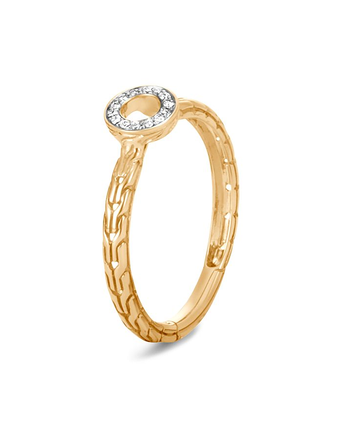 JOHN HARDY - 18K Yellow Gold Dot Pavé Diamond Circle Ring