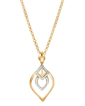 John Hardy 18K Yellow Gold Legends Naga Pave Diamond Pendant Necklace, 18