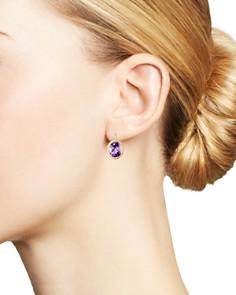 Bloomingdale's - Amethyst Bezel-Set Earrings in 14K Yellow Gold - 100% Exclusive