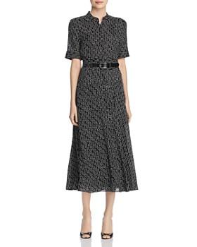 68aa227fb5 Lafayette 148 New York - Augustine Belted Geo Print Shirt Dress ...