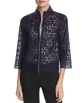 0e73ca10502d Elie Tahari - Rainer Silk Floral Lace Jacket ...