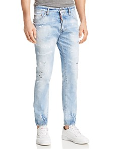 DSQUARED2 - DSQUARED2 Light Piranha Skinny Fit Cigarette Jeans in Blue