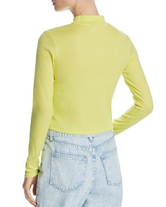 Bardot - Chaplin Cropped Mock-Neck Top - 100% Exclusive