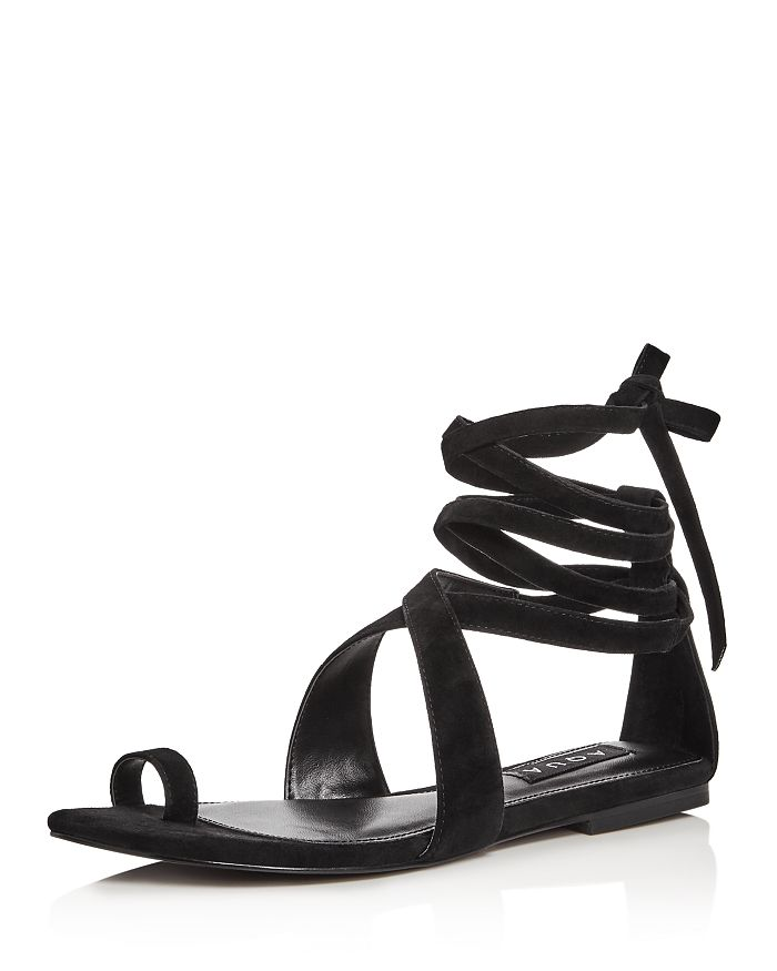 AQUA - Women's Bay Suede Lace Up Sandals - 100% Exclusive